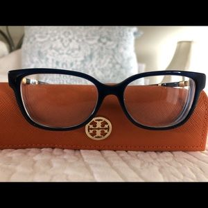 Tory Burch women's Blue eyeglasses with case